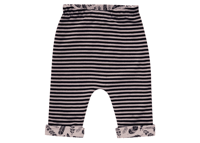 Organic Reversible Baby Pant Brown Feathers