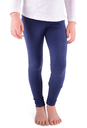 Organic Girls Leggings Blue