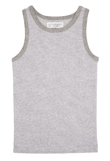 Organic Boys Vest Don Grey