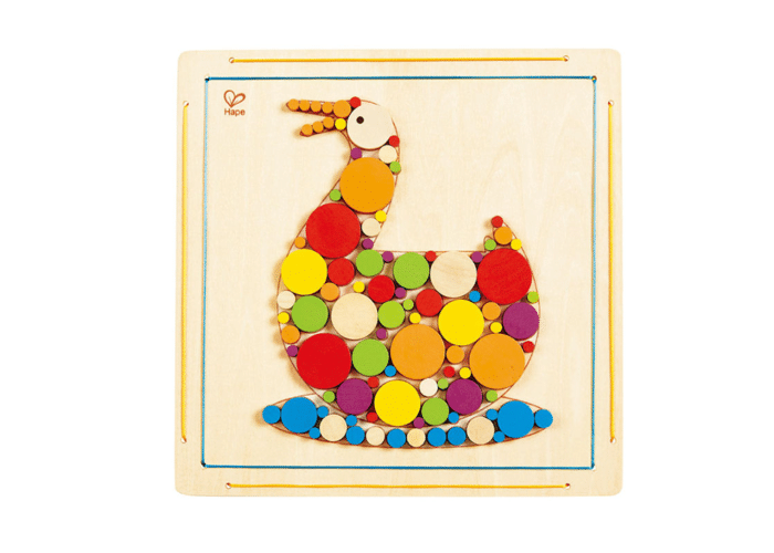 Wooden Toy Duck Mosaic