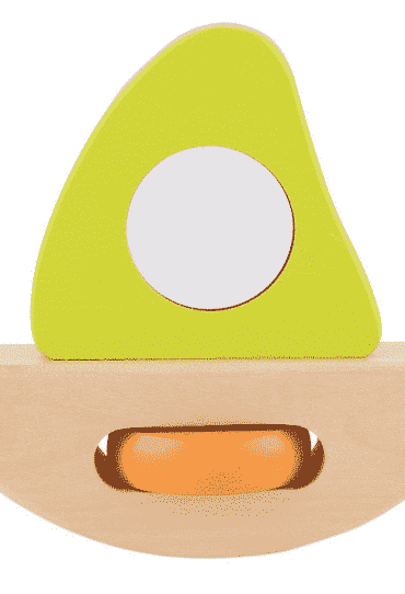 Wooden Sailboat light green