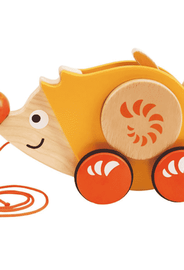 Wooden Toy Walk A Long Hedgehog