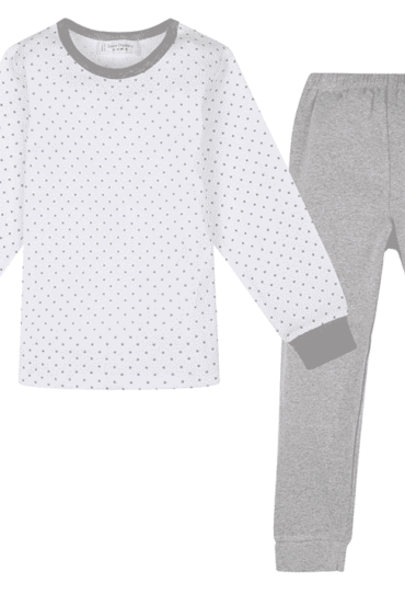 Organic Children Pyjama White and Grey