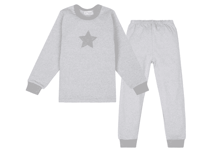 Organic Children Pyjama Grey with Star
