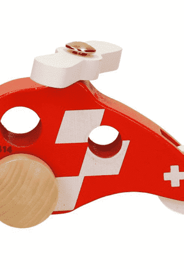Wooden Toy Copter REGA Red