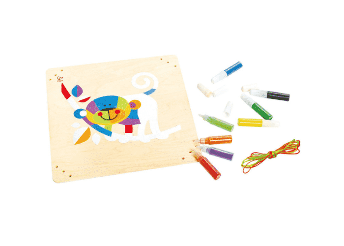 Wooden Toy Monkey Sand Mosaic