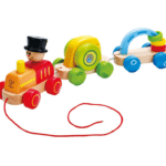 Wooden Toy Walk A Long Train