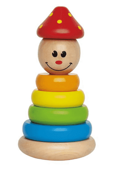 Wooden Stucking Clown Puzzle