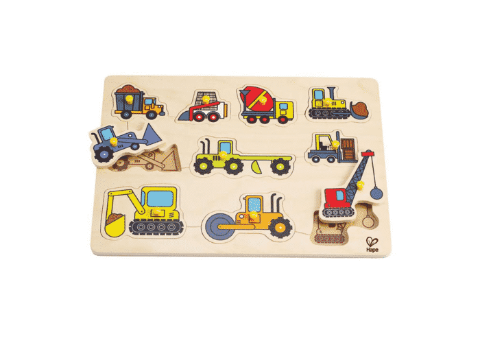 Wooden Toy Puzzle Construction Site