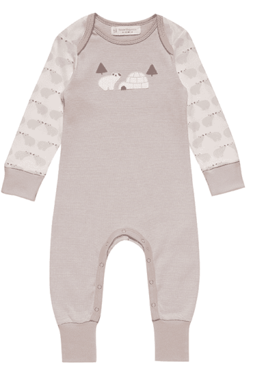 organic Baby Romper Wayan with Ice Bears