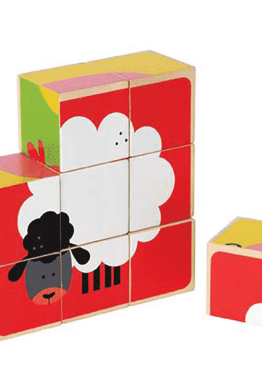 Wooden Blocks Puzzle Farm Animals