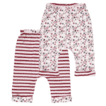 Organic Reversible Baby Pant Stripes and Snowflakes