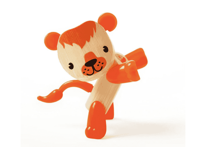 Wooden Toy Lion