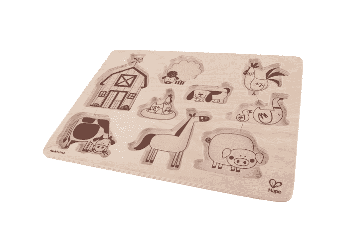 Wooden Toy Puzzle Farm Animals