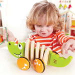 Wooden Toy Walk A Long Croc