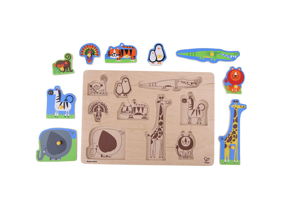 Wooden Toy Puzzle Jungle