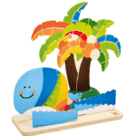 Wooden Picture Frame Tropical Island