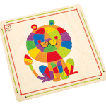Wooden Toy Lion Sand Mosaic