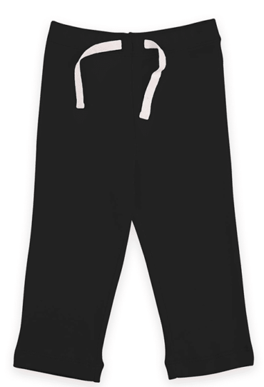 Organic Baby Yoga Pants Black