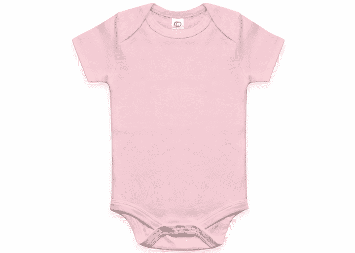 Organic Baby Bodysuit Short Sleeve Rose