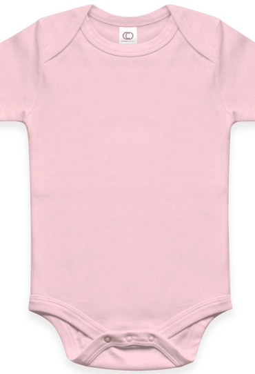 Organic Baby Bodysuit – Short Sleeve – Rose