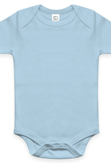 Organic Baby Bodysuit – Short Sleeve – Sky Blue