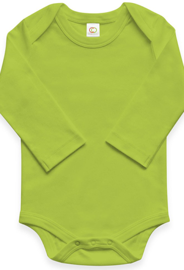 Organic Baby Bodysuit Long Sleeve Kiwi