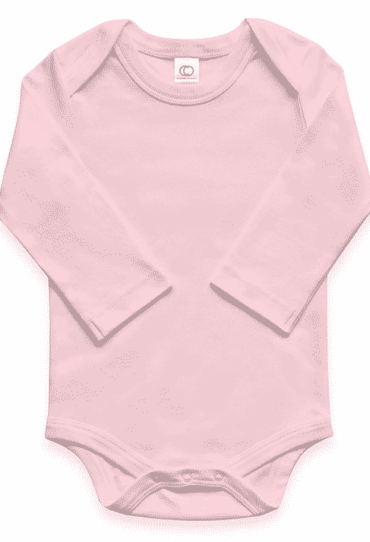 Organic Baby Bodysuit Long Sleeve Rose