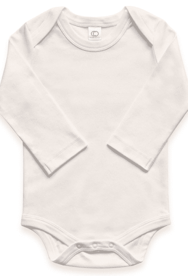 Organic Baby Bodysuit Long Sleeve Tofu