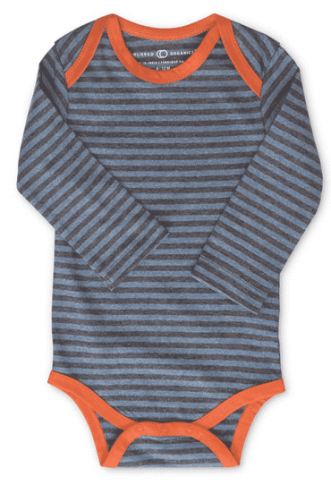 Organic Baby Boy Bodysuit Maren Dark Stripes