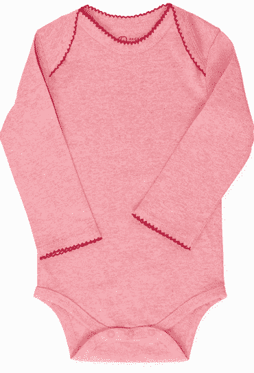 Organic Baby Girl Bodysuit Long Sleeve Light Red