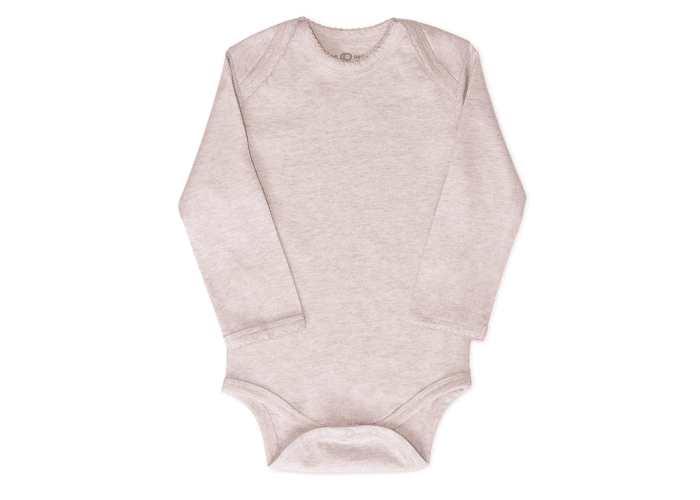 Organic Baby Bodysuit Long Sleeve Oat