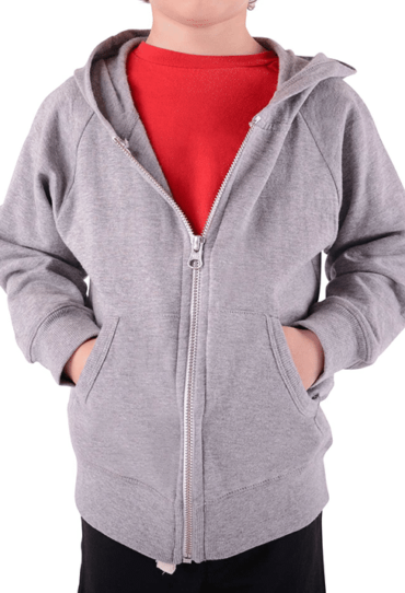 Organic Boys Fleece Hoodie Grey