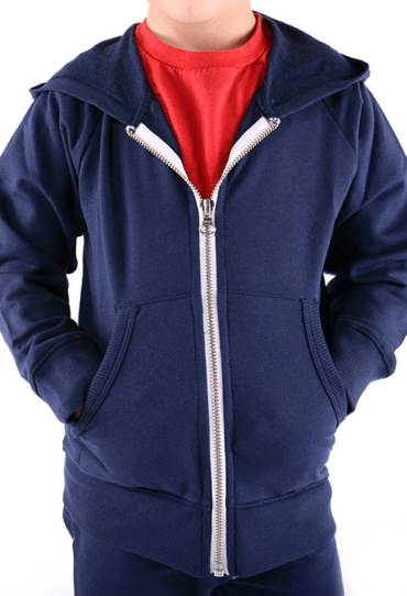 Organic Boys Fleece Hoodie Blue