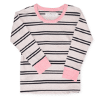 Girls Pullover Grace Light Brown with Stripes