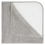 Organic Baby Blanket grey velour