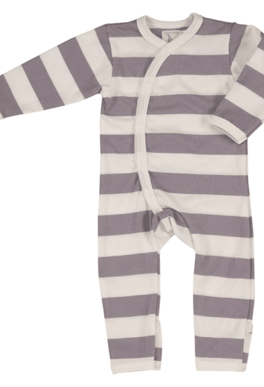 Organic Baby Romper with Jumbo Stripes