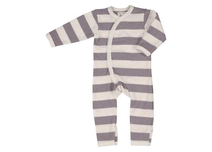 Organic Baby Romper with stripes Beige