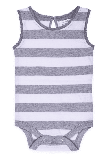 Bio Lucy Lace Baby Tank Top Body Grau