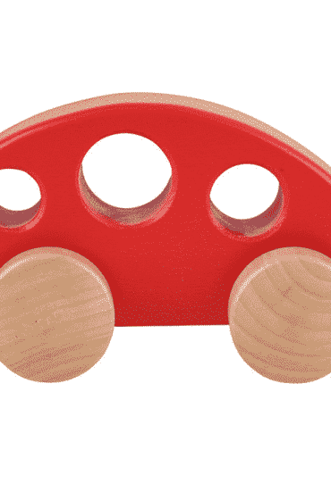Wooden Toy Minivan Red