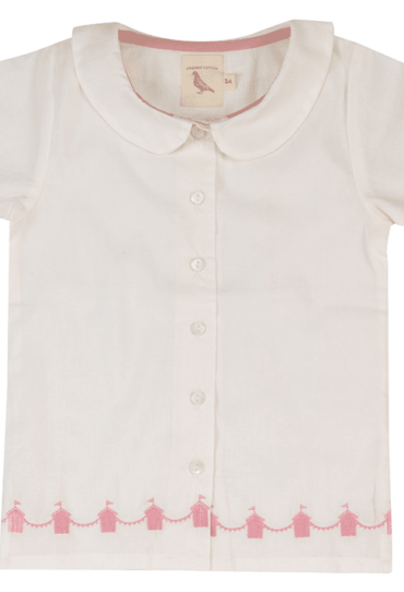 Summer Shirt for Girls Sara – Ivory