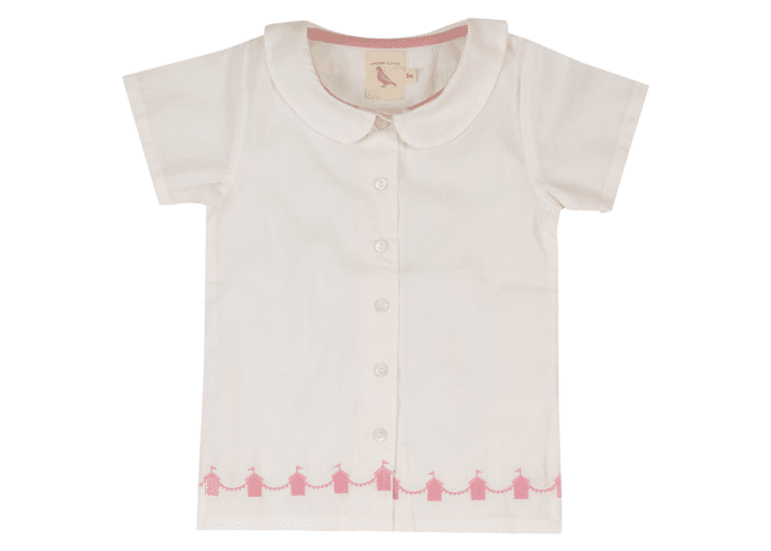girls Summer Shirt Ivory