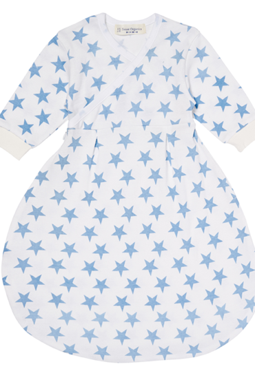 Organic Baby Sleeping Bag Blue Stars