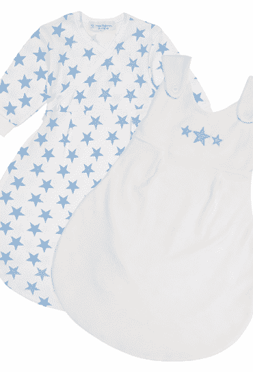 Organic Baby Sleeping Bag Saba Blue Stars