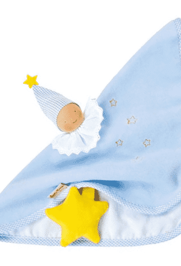 Organic Soft Toy with Blanket Blue