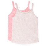 Girls Tank Top Light Brown and Pink