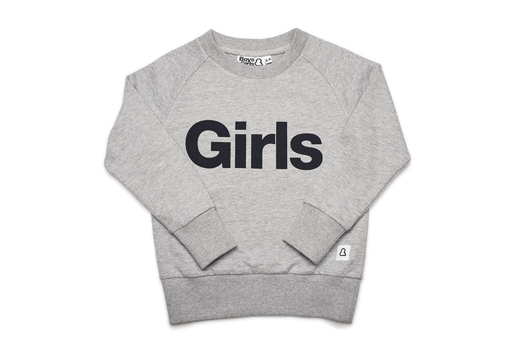 girls crew pullover