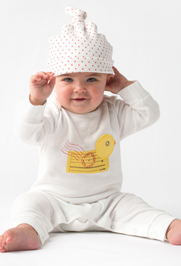 retro duck baby romper